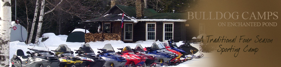 Snowmobiles at Bulldog camps